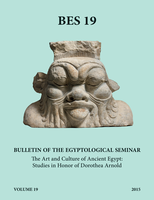 Book cover: on a turquoise background, black type indicates the title, volume number, and authorship of the work. In the center of the cover, a cutout photograph of stone sculpture depicting a monstrous humanoid head and shoulders with exaggerated features.