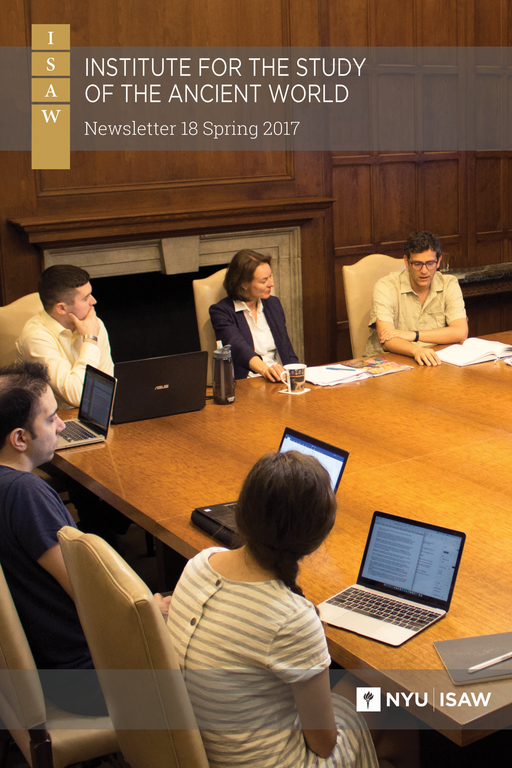 Cover image: title and logos over a photograph of people seated at a large wooden table in a wood-paneled room. Laptops, papers, and notebooks are on the table surface.