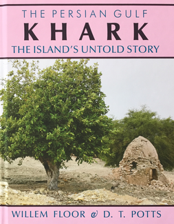 The title appears in a large horizontal band of pink at the top. A smaller band of pink at the bottom contains the authors' names. The large area in between contains a photograph depicting a large olive tree and, next to it, a smaller, dilapidated stone or brick domed structure.