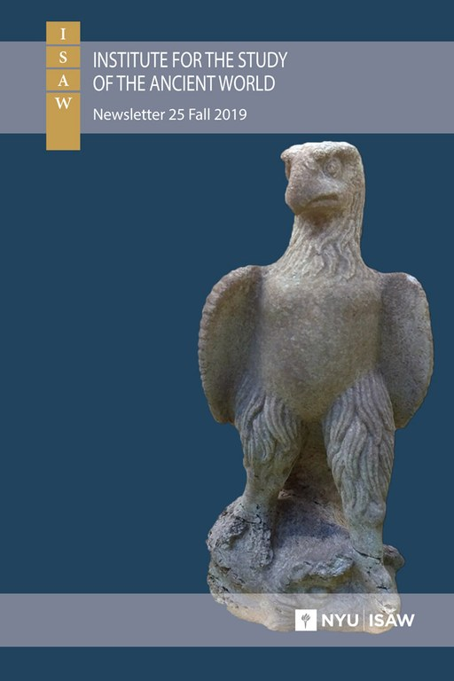 ISAW Newsletter Fall 2019 Cover showing Kinik Eagle Statue