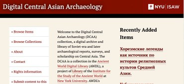 Digital Central Asian Archaeology (DCAA) Collection