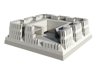 Fig. 7. Reconstruction of the first period fortress (© Gil')