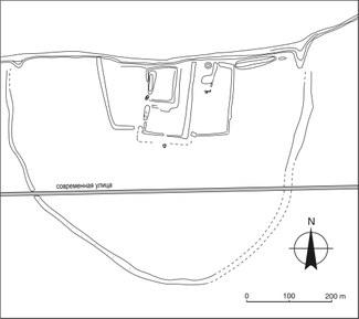 Рис. 6: Крепость Хазара. Топографический план