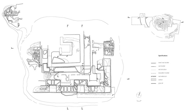 Fig. 3. Plan as by the end of the 2013 season