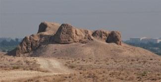 Рис. 7: Крепость Ганч-тепа. Вид с юга